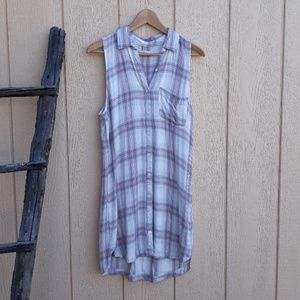 Abercrombie & Fitch Sleeveless Plaid Flannel Dress